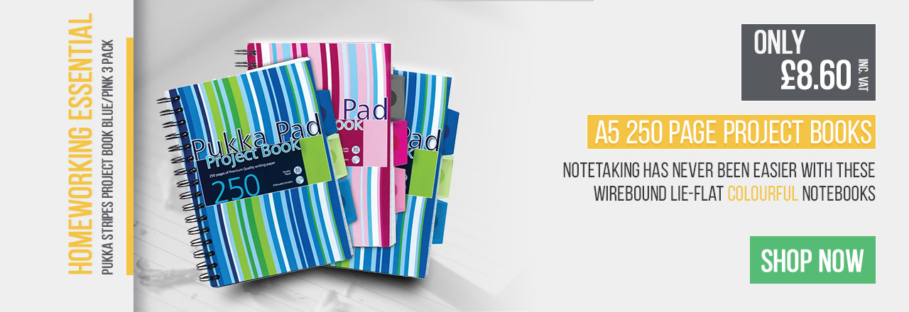 Notetaking has never been easier with these wirebound lie-flat colourful notebooks