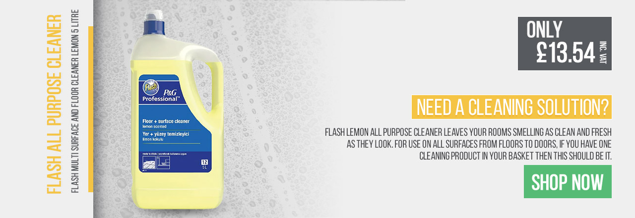 Flash Lemon All Purpose Cleaner leaves your rooms smelling as clean and fresh as they look.