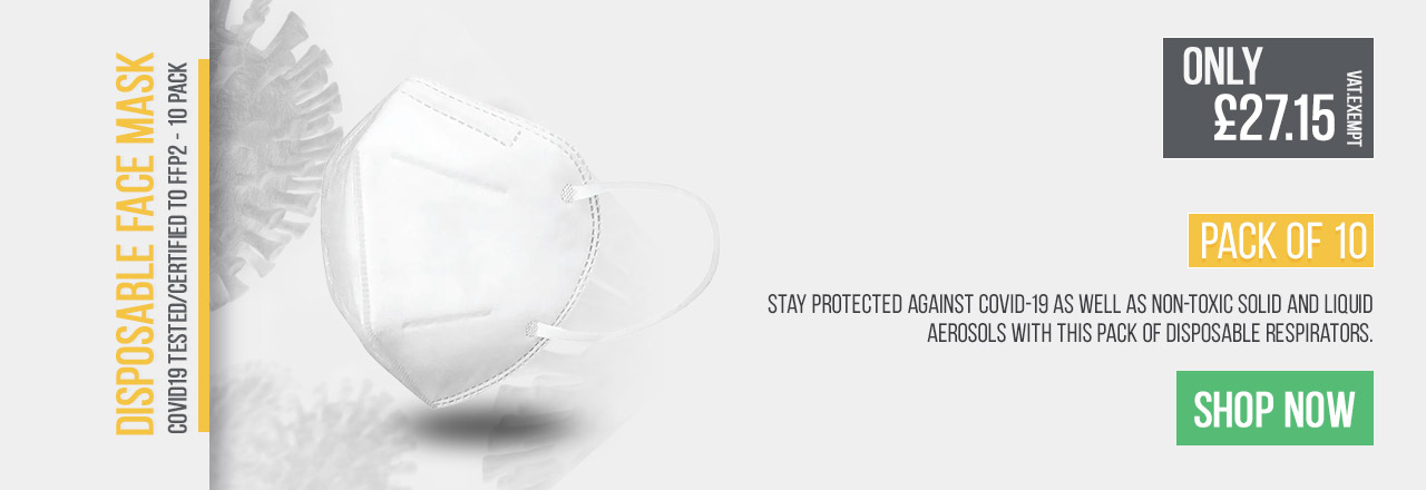 Stay protected agaisnt Covid-19 as well as non-toxic solid and liquid aerosols with this pack of Disposable Respirators.