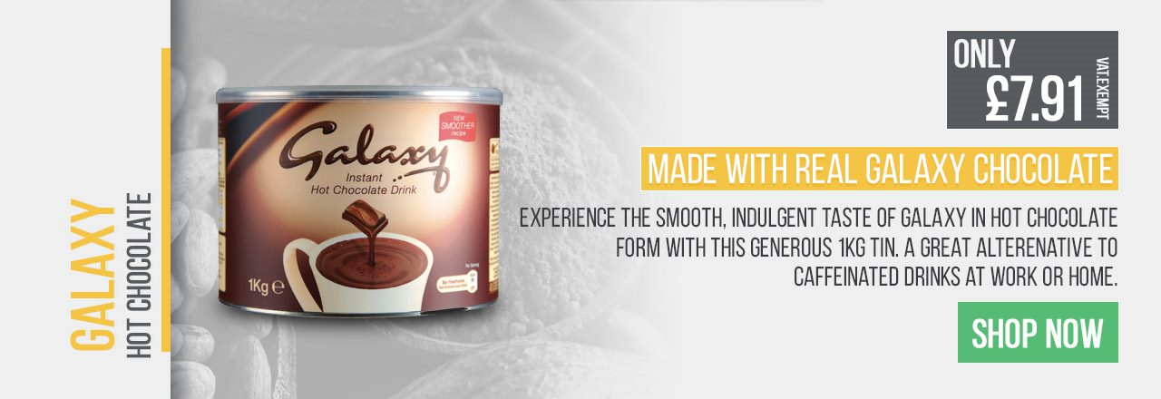Experience the smooth, indulgent taste of Galaxy in hot chocolate form with this generous 1kg tin.