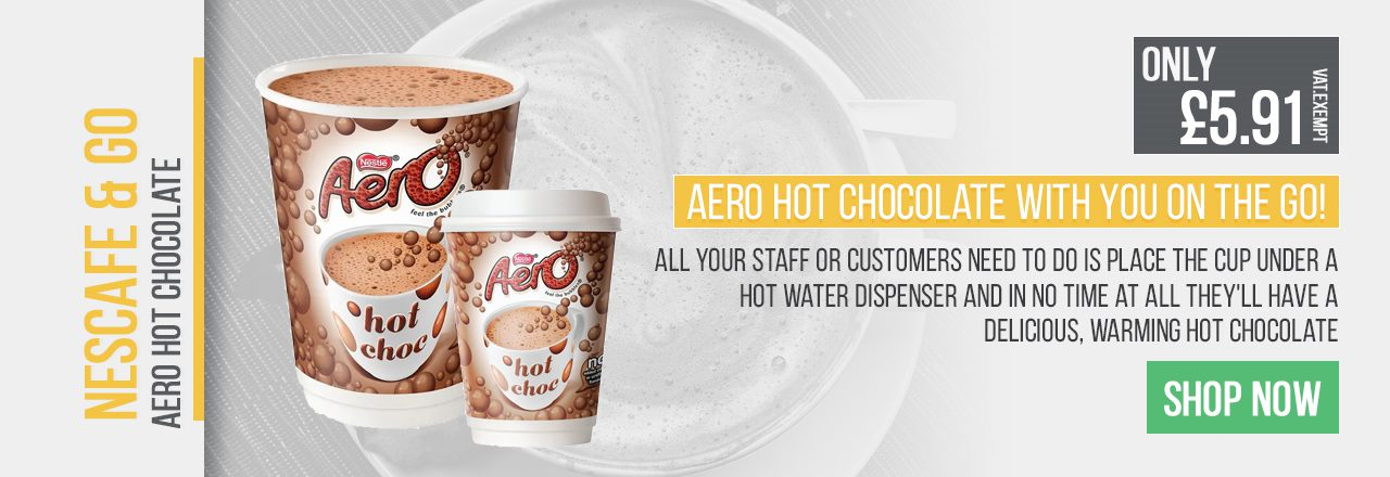 All your staff or customers need to do is place the cup under a hot water dispenser and in no time at all they'll have a delicious, warming hot chocolate.
