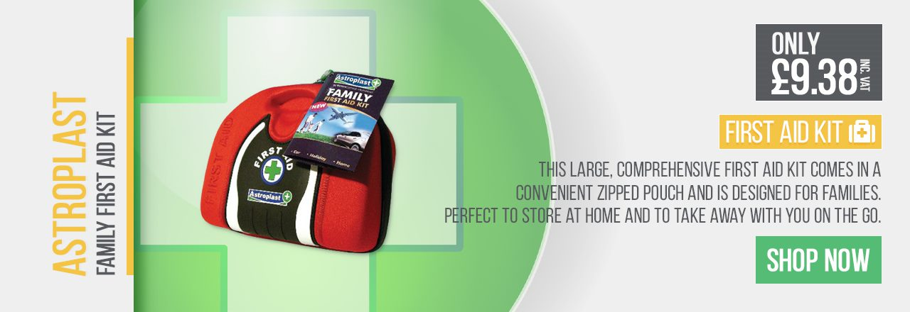 This large, comprehensive first aid kit comes in a convenient zipped pouch and is designed for families