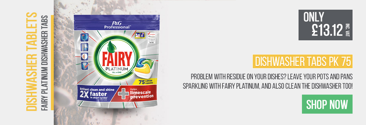 Leave your pots and pans sparkling with Fairy Platinum, and also clean the dishwasher too!