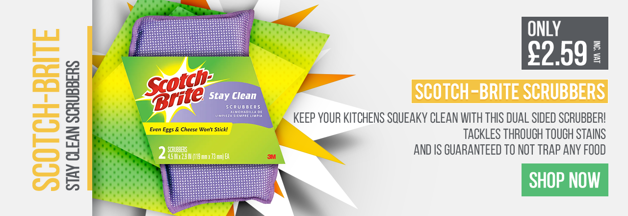 Keep your kitchens squeaky clean with this dual sided scrubber!