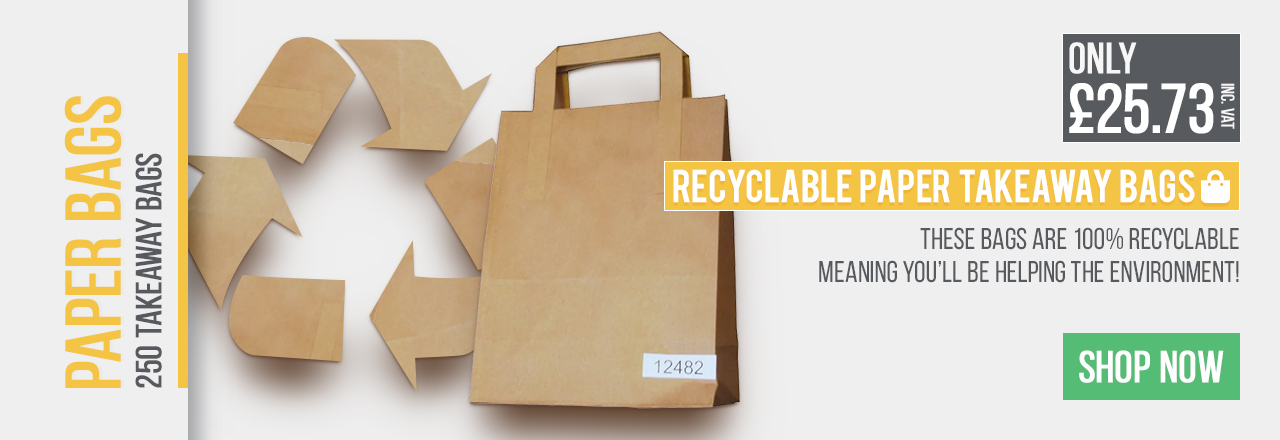 These bags are 100% recyclable, meaning you'll be helping the environment!