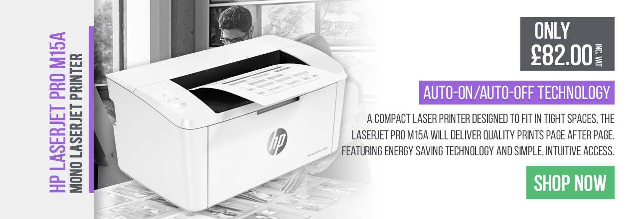 A compact laser printer designed to fit in tight spaces