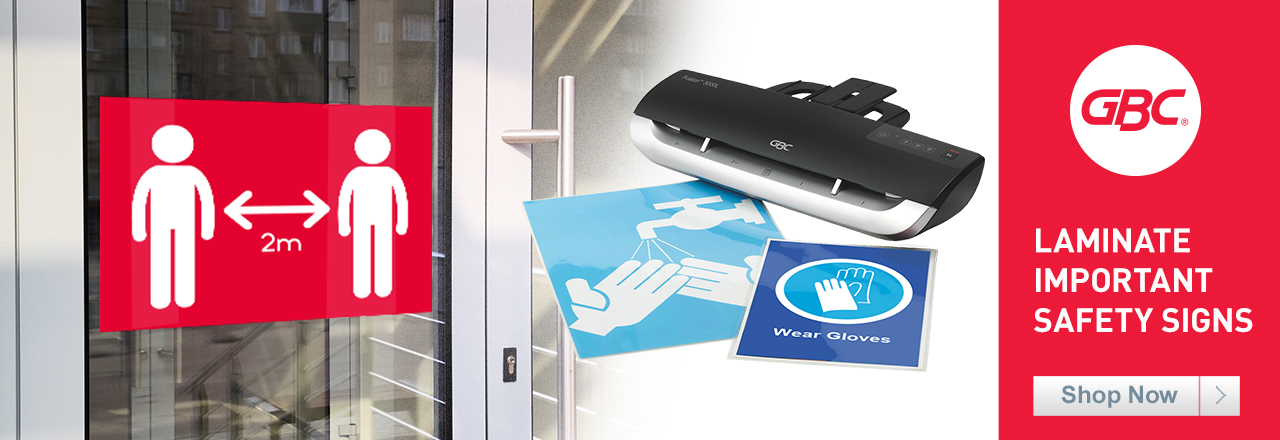 Laminate Important Safey Signs with GBC