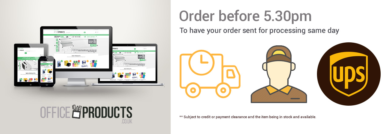 Order before 5:30 for same day processing