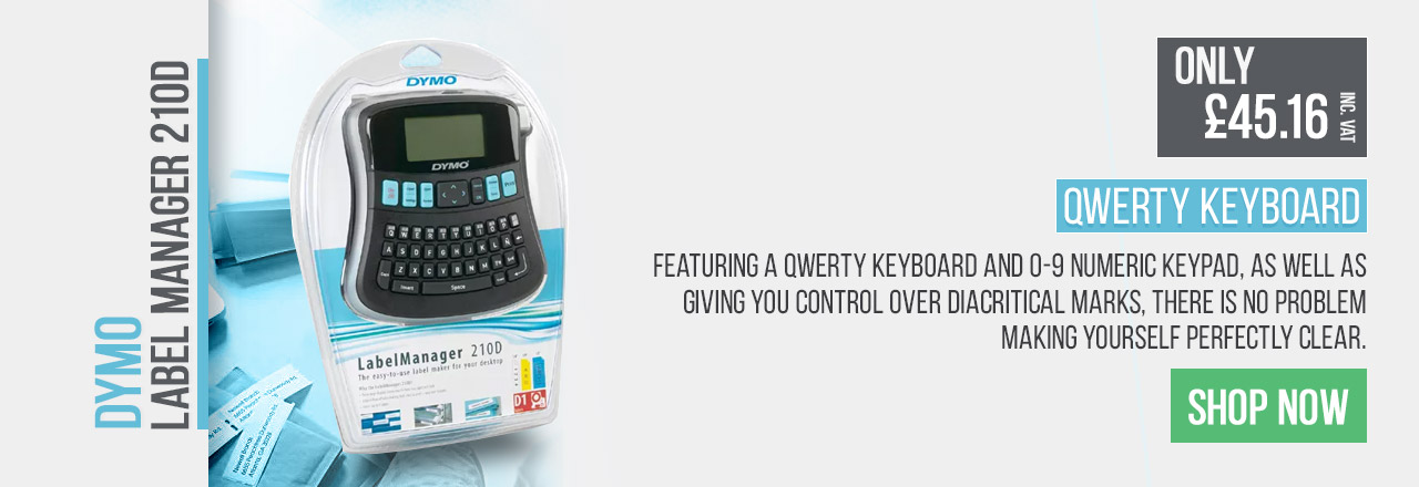 Make yourself perfectly clear with the Dymo Label Manager 210D