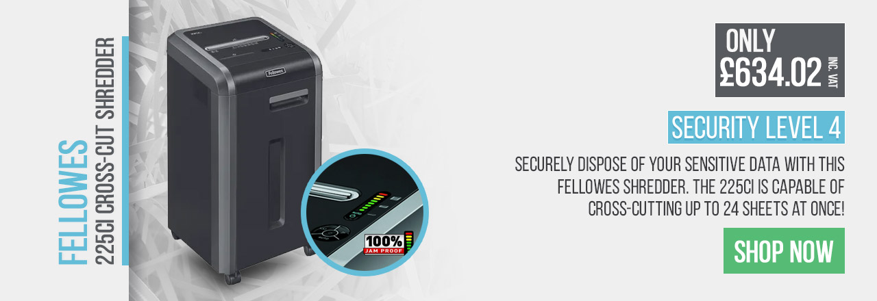Securely dispose of your sensitive data with this Fellowes shredder.