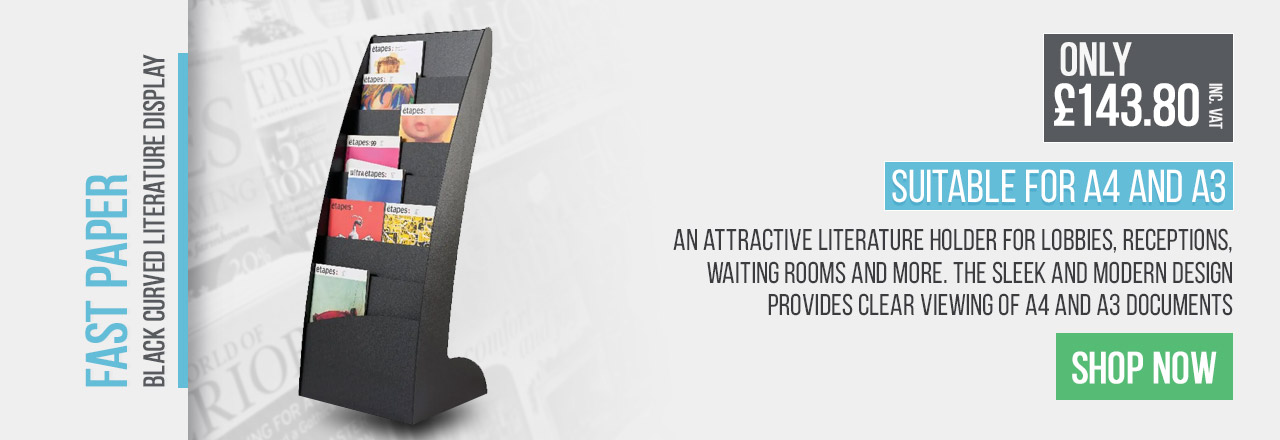 An attractive literature holder for lobbies, receptions, waiting rooms and more