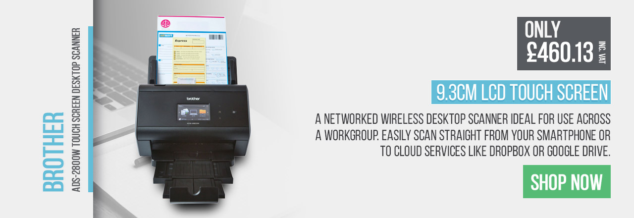 A networked wireless desktop scanner, ideal for use across a workgroup